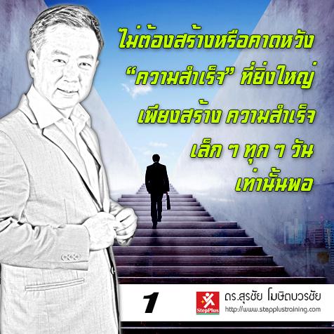 หลักสูตรผู้นำเพื่อความสำเร็จ โดย ดร.สุรชัย โฆษิตบวรชัย